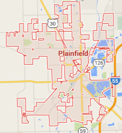map of plainfield fertilization service area