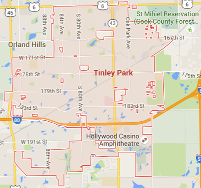 fertilization service map in tinley park